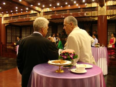 Ambassador Stanzel and the head of Beijing Goethe Institute, Michael Kahn-Ackermann